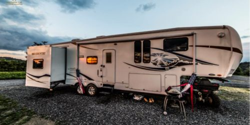 Our RV sites are pull-through full hookup sites.
